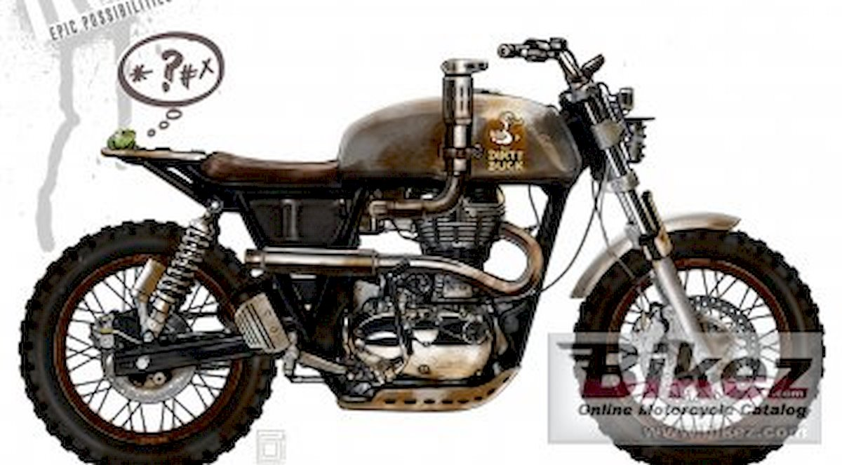 Image of ENFIELD CUSTOMBIKE DIRTY DUCK