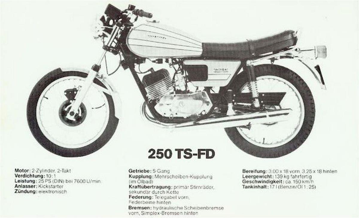 Image of MOTO GUZZI TS 250 FD